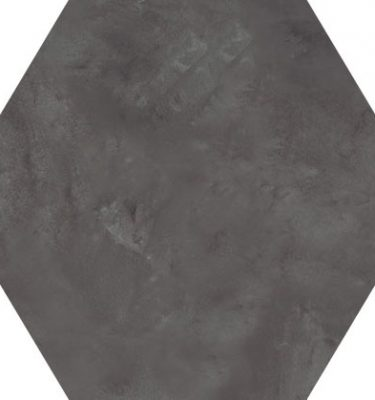 Marca Corona Terra Nero hexagon 21,6x25